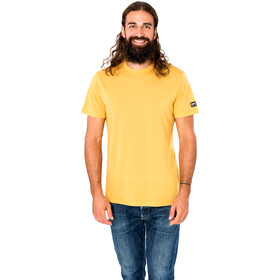 super.natural Essential Camiseta Manga Corta Hombre, amarillo